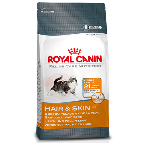 royal canin hair skin 33 dry cat food singapore online pet store. Black Bedroom Furniture Sets. Home Design Ideas