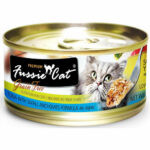 Fussie Cat Premium - Tuna With Small Anchovies in Aspic Canned Cat Food, 80g, Case of 24
