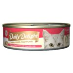Daily Delight Jelly Skipjack Tuna White with Sasami Canned Cat Food, 80g