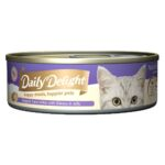 Daily Delight Jelly Skipjack Tuna White with Shirasu Canned Cat Food, 80g