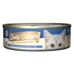 Daily Delight Jelly Skipjack Tuna White with Sardine Canned Cat Food, 80g