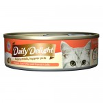 Daily Delight Jelly Skipjack Tuna White with Carrot Canned Cat Food, 80g