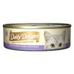 Daily Delight Pure Skipjack Tuna White & Chicken with Sea Bream Canned Cat Food, 80g