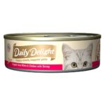Daily Delight Pure Skipjack Tuna White & Chicken with Shrimp Canned Cat Food, 80g