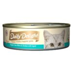 Daily Delight Pure Skipjack Tuna White & Chicken with Squid Canned Cat Food, 80g