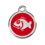 Red Dingo: Stainless Steel with Enamel Identification Tags (Fish)