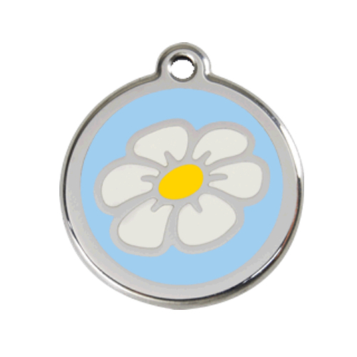 Red Dingo: Stainless Steel with Enamel Identification Tags (Daisy)