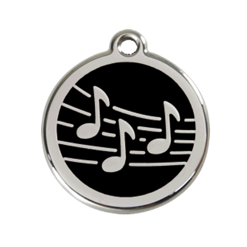 Red Dingo: Stainless Steel with Enamel Identification Tags (Music)