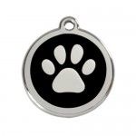 Red Dingo: Stainless Steel with Enamel Identification Tags (Paw Print)