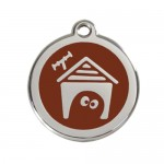 Red Dingo: Stainless Steel with Enamel Identification Tags (Dog House)