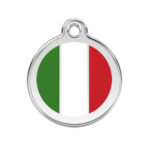 Red Dingo: Stainless Steel with Enamel Identification Tags (Italian Flag)