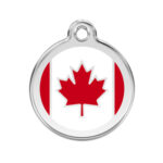 Red Dingo: Stainless Steel with Enamel Identification Tags (Canadian Flag)