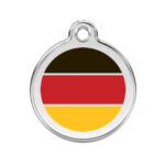 Red Dingo: Stainless Steel with Enamel Identification Tags (German Flag)