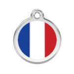 Red Dingo: Stainless Steel with Enamel Identification Tags (French Flag)
