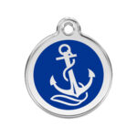 Red Dingo: Stainless Steel with Enamel Identification Tags (Anchor)