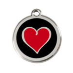 Red Dingo: Stainless Steel with Enamel Identification Tags (Heart)