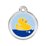 Red Dingo: Stainless Steel with Enamel Identification Tags (Rubber Duck)