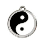 Red Dingo: Stainless Steel with Enamel Identification Tags (Ying & Yang)