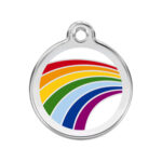 Red Dingo: Stainless Steel with Enamel Identification Tags (Rainbow)