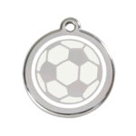 Red Dingo: Stainless Steel with Enamel Identification Tags (Soccer Ball)