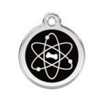 Red Dingo: Stainless Steel with Enamel Identification Tags (Atom)