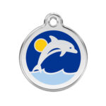 Red Dingo: Stainless Steel with Enamel Identification Tags (Dolphin)