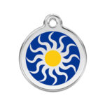 Red Dingo: Stainless Steel with Enamel Identification Tags (Tribal Sun)