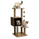 Hagen Catit: Vesper V-High Base Cat Furniture in Black