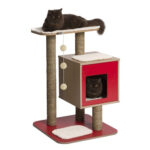 Hagen Catit: Vesper V-base Cat Furniture in Red