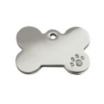 Red Dingo: Stainless Steel with Diamante Identification Tags (Bone)