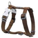Red Dingo Classic Dog Harness in Brown