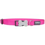 Red Dingo Classic Dog Collar in Hot Pink