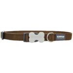 Red Dingo Classic Dog Collar in Brown