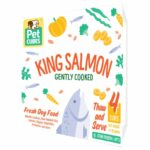 Pet Cubes Complete King Salmon Frozen Cooked Dog Food
