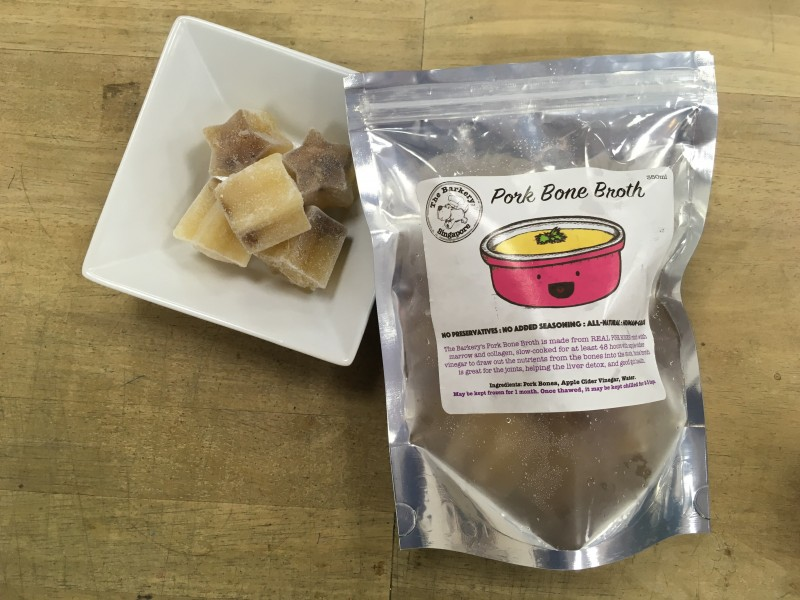 home made bone broth for cats and dogs The Barkery Singapore Pork Bone Broth