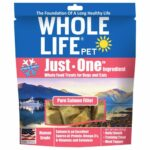 Whole Life Pet Just-One Ingredient Pure Salmon Freeze-Dried Dog & Cat Treats, 8oz