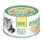 Miaw Miaw Chicken Fillet with Whitebait Canned Cat Food, 60g