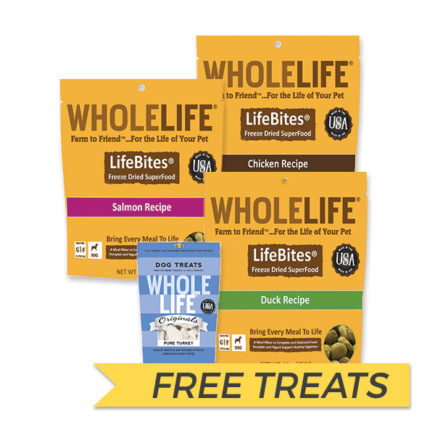 FREE TREATS: Whole Life LifeBites Freeze Dried Superfood For Dogs