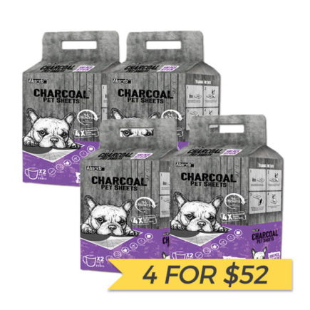 4 FOR $52: AbsorbPlus Charcoal Pet Sheets