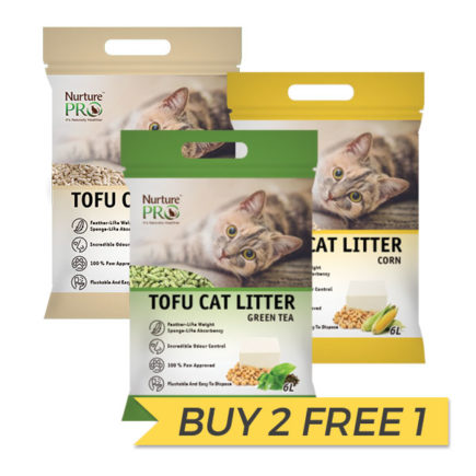 BUY 2 FREE 1: Nurture Pro Tofu Cat Litter