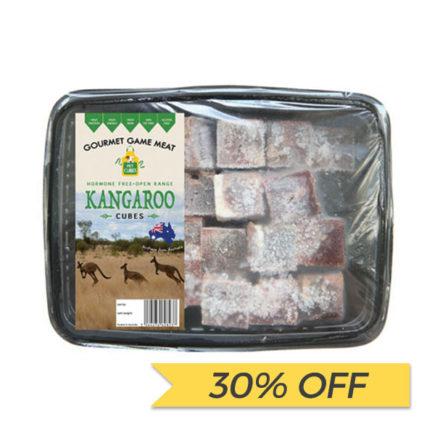 30% OFF: Petcubes Frozen Fresh Kangaroo Cubes, 1kg