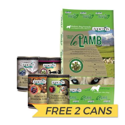 FREE CANS: Addiction Le Lamb Dry Dog Food