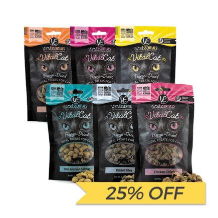 25% OFF Vital Essentials Freeze Dried Cat Treats