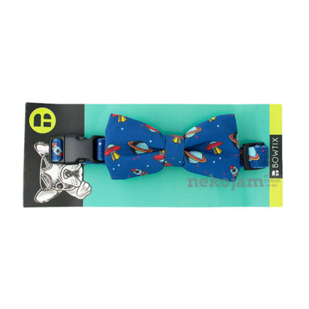 Bowtix Dog Collar (Cosmic Spaceship) - M Size