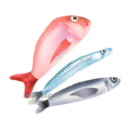 Bowtix Fish Market Cat Kicker Toy with Catnip