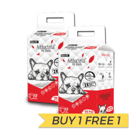BUY 1 FREE 1: AbsorbPlus Antibacterial Pet Sheets