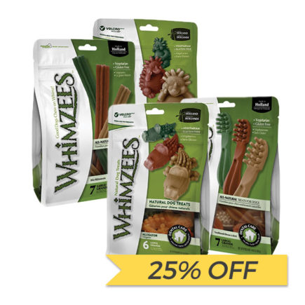 25% OFF: Whimzees Natural Dog Chews