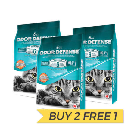 BUY 2 FREE 1: Hagen Catit Cat Love Odor Defense Unscented Clumping Cat Litter