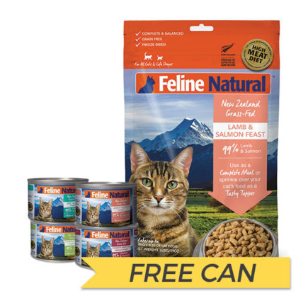 FREE CAN: K9 Natural Feline Freeze Dried Lamb and Salmon Feast