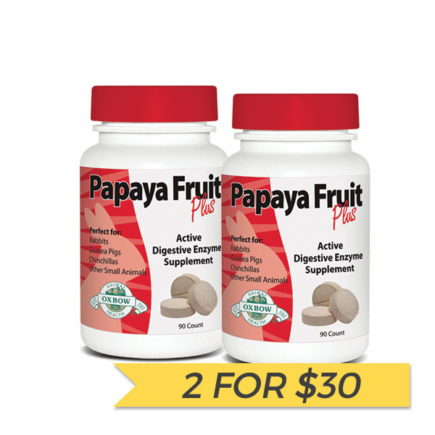 2 FOR $30: Oxbow Papaya Fruit Plus Digestive Enzyme Supplements